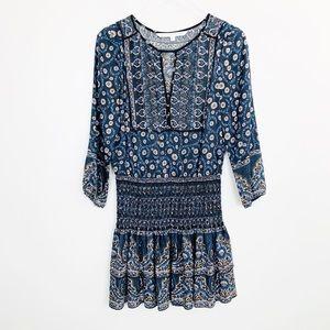 Veronica Beard | Makai Boho Printed Silk Dress 6